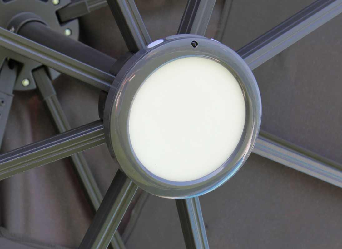 Luminaire LED rechargeable - Parasol déporté - Fixation baïonette