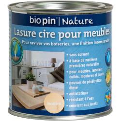 Lasure cire naturelle pour meubles 0,375 L - Incolore de marque Biopin Nature, référence: B5244000