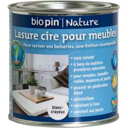 Lasure cire naturelle pour meubles 0,375 L - Blanc-crayeux de marque Biopin Nature, référence: B5244200