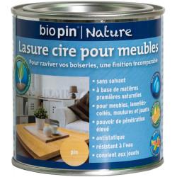 Lasure cire naturelle pour meubles 0,375 L - Pin de marque Biopin Nature, référence: B5244400