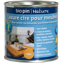 Lasure cire naturelle pour meubles 0,375 L - Chêne de marque Biopin Nature, référence: B5244500