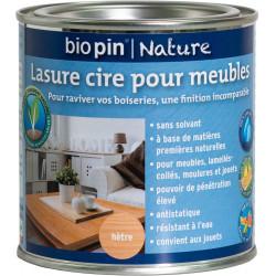 Lasure cire naturelle pour meubles 0,375 L - Hètre de marque Biopin Nature, référence: B5244700