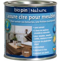 Lasure cire naturelle pour meubles 0,375 L - Noyer de marque Biopin Nature, référence: B5244800