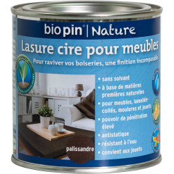 Lasure cire naturelle pour meubles 0,375 L - Palissandre de marque Biopin Nature, référence: B5244900