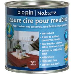 Lasure cire naturelle pour meubles 0,375 L - Rouge suède de marque Biopin Nature, référence: B5245000