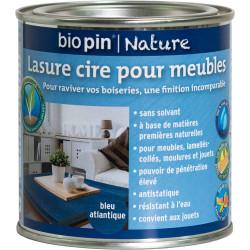 Lasure cire naturelle pour meubles 0,375 L - Bleu atlantique de marque Biopin Nature, référence: B5245100