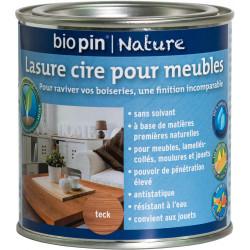 Lasure cire naturelle pour meubles 0,375 L - Teck de marque Biopin Nature, référence: B5245200