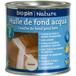 Huile de fond aqua 0,375 L - Incolore de marque Biopin Nature, référence: B5245300