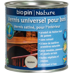 Vernis universel pour bois 0,375 L - Incolore de marque Biopin Nature, référence: B5246100