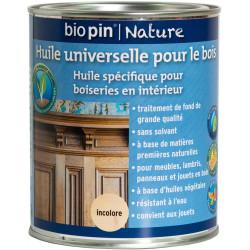 Huile universelle pour bois 0,75 L - Incolore de marque Biopin Nature, référence: B5246300