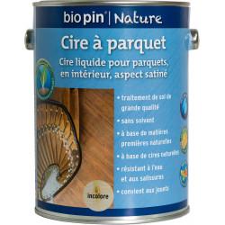 Cire à parquet 2,5 L - Incolore de marque Biopin Nature, référence: B5246800