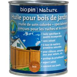Huile pour bois de jardin 0,75 L - Teck de marque Biopin Nature, référence: B5247200