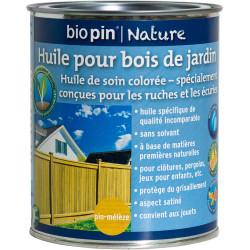 Huile pour bois de jardin 0,75 L - Pin-mélèze de marque Biopin Nature, référence: B5247300