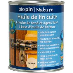 Huile de lin cuite 0,75 L - Incolore de marque Biopin Nature, référence: B5247400