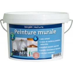 Peinture murale intérieure naturelle 1 L - Terre cuite rouge de marque Biopin Nature, référence: B5247900