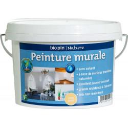 Peinture murale intérieure naturelle 1 L - Jaune genêt de marque Biopin Nature, référence: B5248000