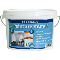 Peinture murale intérieure naturelle 1 L - Bleu pacifique de marque Biopin Nature, référence: B5248100