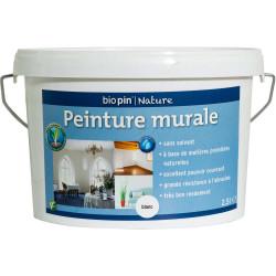 Peinture murale intérieure naturelle 2,5 L - Blanc de marque Biopin Nature, référence: B5248300
