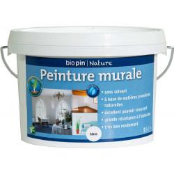 Peinture murale intérieure naturelle 1 L - Blanc de marque Biopin Nature, référence: B5248400