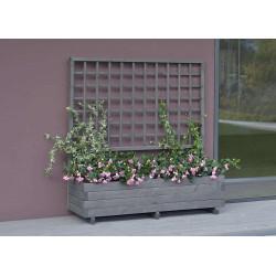 """Jardinière avec treillis """"Hellbrunn"""" - l 136 cm x h 140 cm Gris vintage de marque GASPO , référence: J4251700"""