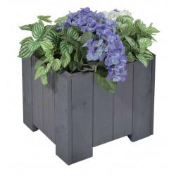 """Bac à fleurs carré """"wels """" 40x40x35 cm (l x L x h) - Gris vintage, surface lisse de marque GASPO , référence: J4253000"""