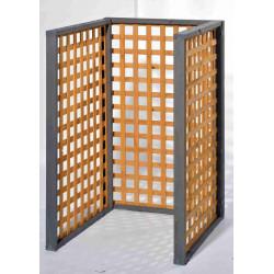"""Cache-poubelles 3 panneaux """"Zell"""" - Miel / Gris vintage de marque GASPO , référence: J4253600"""