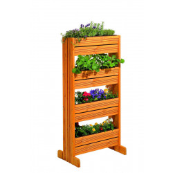 Jardinière verticale en épicéa/pin Miel - 65,5 x 39,5 x 133 cm (l x P x h) de marque GASPO , référence: J4254200