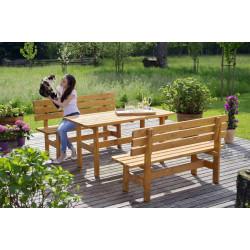 """Ensemble de jardin : 1 table et 2 bancs """"Kitzbühel"""" de marque GASPO , référence: J4255200"""