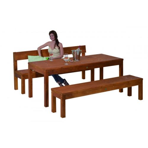 Gaspo Table de jardin en bois \
