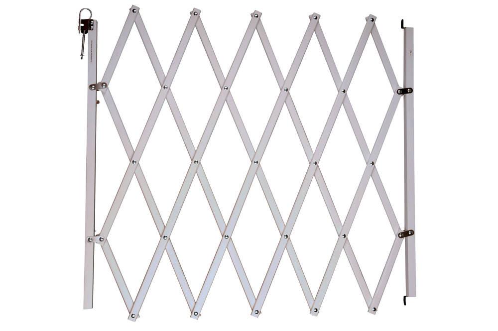Barrière Stopfix, en bois, blanche, extensible à 110cm