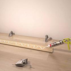 Kit de serrage et de calage pour plinthes, 10supports et 10 languettes de marque Nordlinger, référence: B5279300