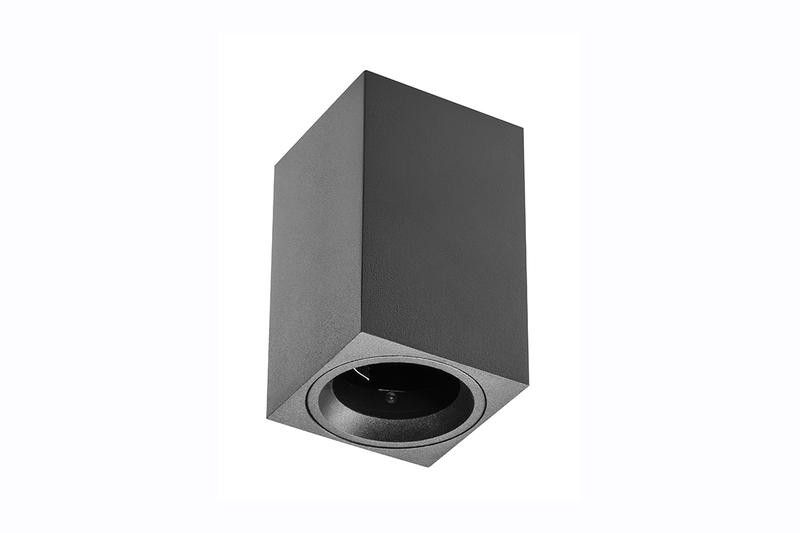 Petit plafonnier cubique SENSA mini - Aluminium - Noir - 11,5 cm - IP 20