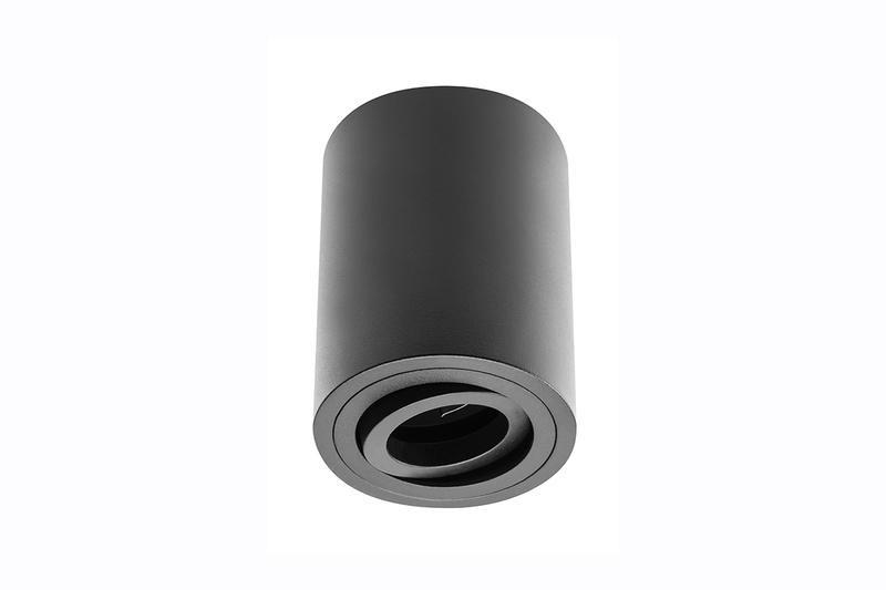 Petit plafonnier cylindrique SENSA avec tête rotative - Aluminium - Noir - 11,5 cm - IP 20