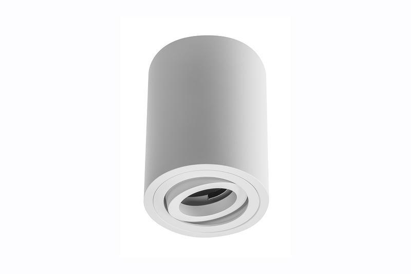 Petit plafonnier cylindrique SENSA avec tête rotative - Aluminium - Blanc - 11,5 cm - IP 20
