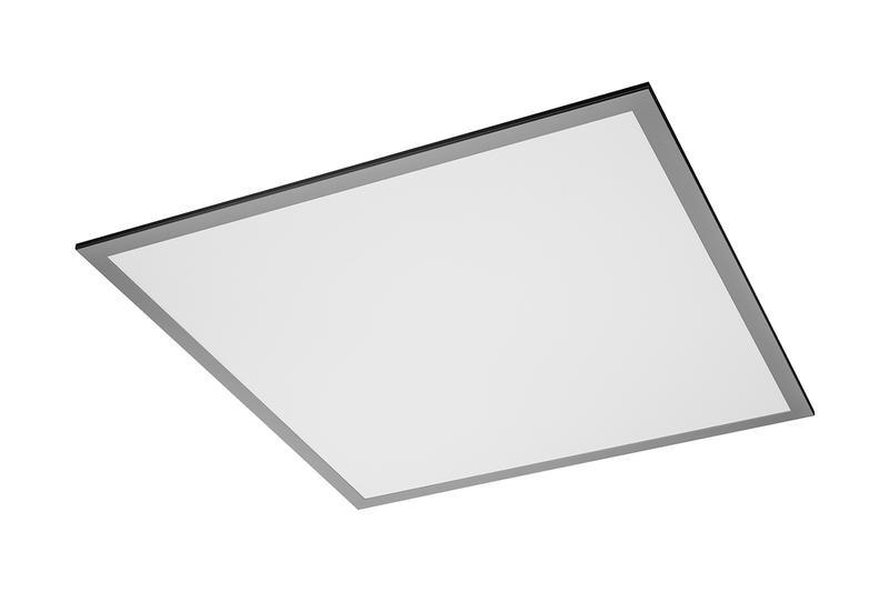 Dalle LED carrée grise - 59,5 x 59,5 cm - 40 W - 4400 lumens - blanc - IP54