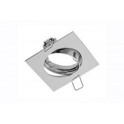 Spot de plafond PORTO orientable - encastrable - aluminium - couleur chrom - 8 x 8 cm de marque GTV Lighting, référence: B5297700