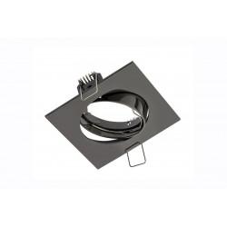 Spot de plafond PORTO orientable - encastrable - aluminium - couleur chrom noir - 8 x 8 cm de marque GTV Lighting, référence: B5297900