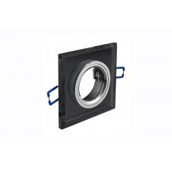 Spot de plafond BRILLANTE - encastrable - verre - noir - 9 x 9 cm de marque GTV Lighting, référence: B5298800