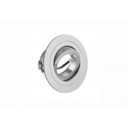 Spot de plafond MORENA orientable - encastrable - aluminium - argent - ø 9 cm de marque GTV Lighting, référence: B5298900
