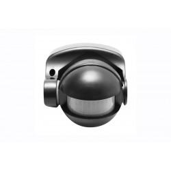 Détecteur de mouvement CR-1 noir - plafond/murale - détection 10 m - 180° - IP 44 de marque GTV Lighting, référence: B5299600