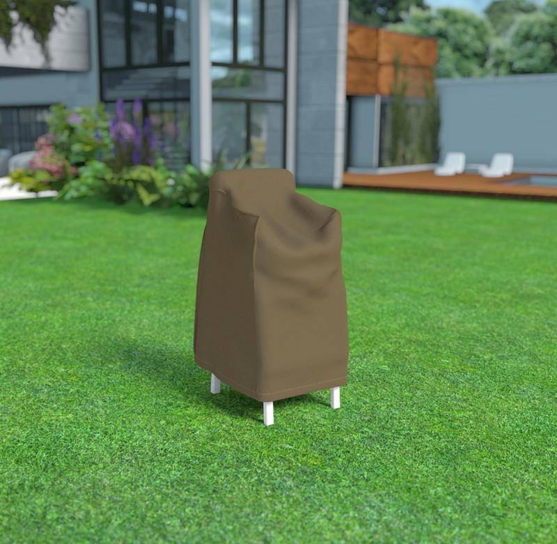 Housse de protection en polyester pour chaise empilées - 70 x 70 x 110 cm - 90 g/m2