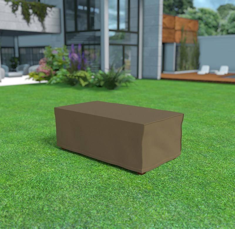 Housse de protection en polyester pour table rectangulaire - 205 x 105 x 70 cm - 90 g/m2