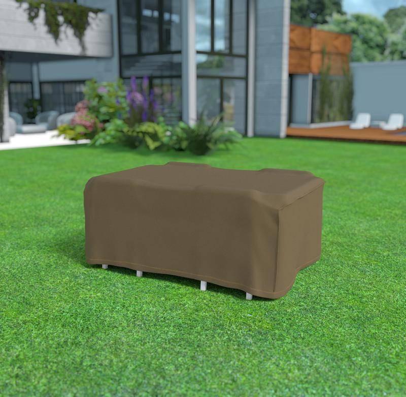 Housse de protection en polyester 225 x 145 x 90 cm - pour table rectangulaire + 4 chaises - 90g/m2