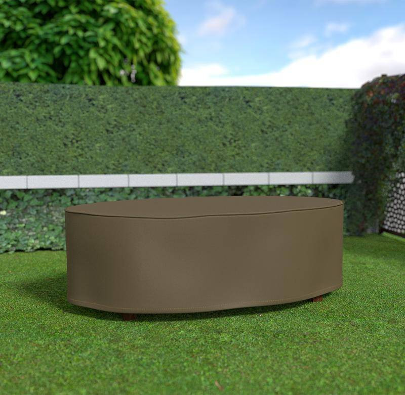 Housse de protection en polyester pour table ovale - 230 x 130 x 70 cm - 90m/g2