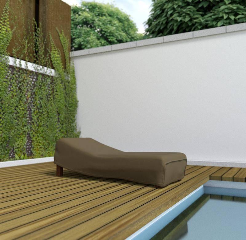 Housse de protection en polyester pour chaise longue - 200 x 80 x 40 cm - 90 g/m2