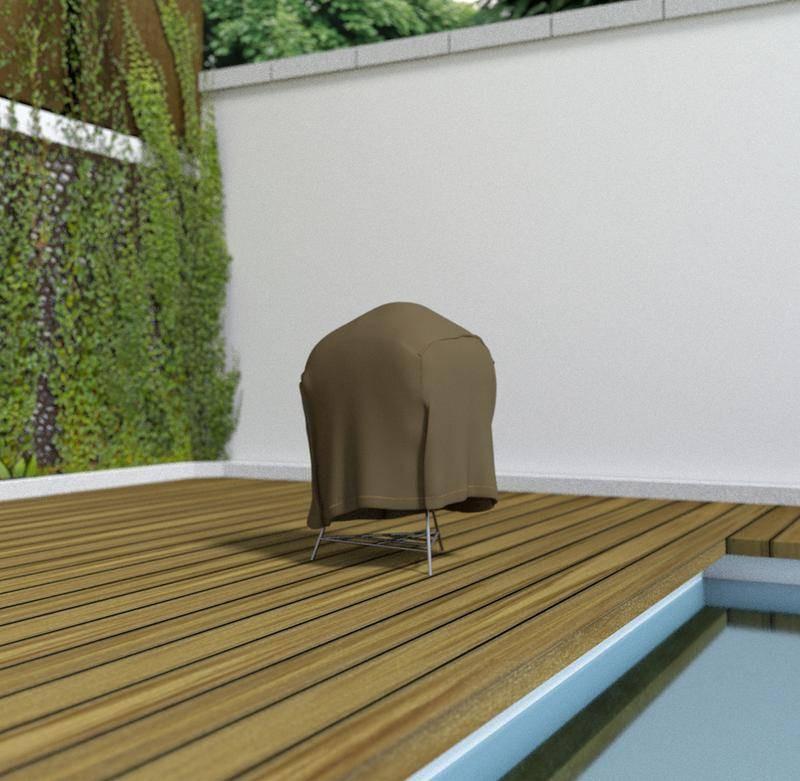 Housse de protection en polyester pour barbecue - 70 x 70 x 60 cm - g/m2