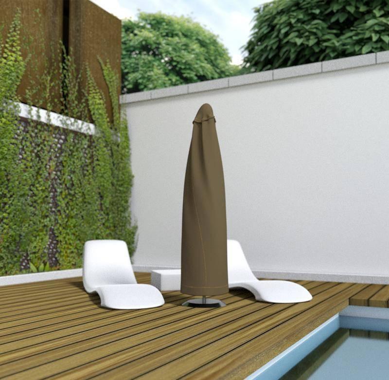 Housse de protection en polyester pour Parasol - 60 x h 200 cm - g/m2