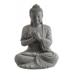 Statue décorative BUDDHA en fibre de verre et argile - 60 cm de marque NORTENE , référence: J5304500