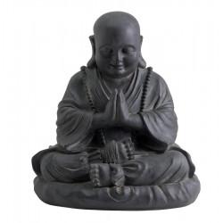 Statue décorative HAPPY BUDDHA en fibre de verre et argile - 53 cm de marque NORTENE , référence: J5304600