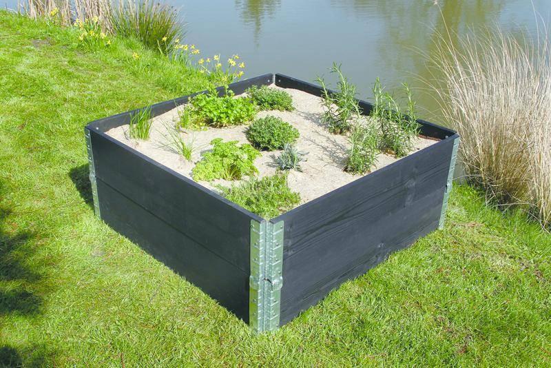 Paillage naturel 95 x 95 cm - pour jardin et potager 100% biodégradable - 500 g/m2